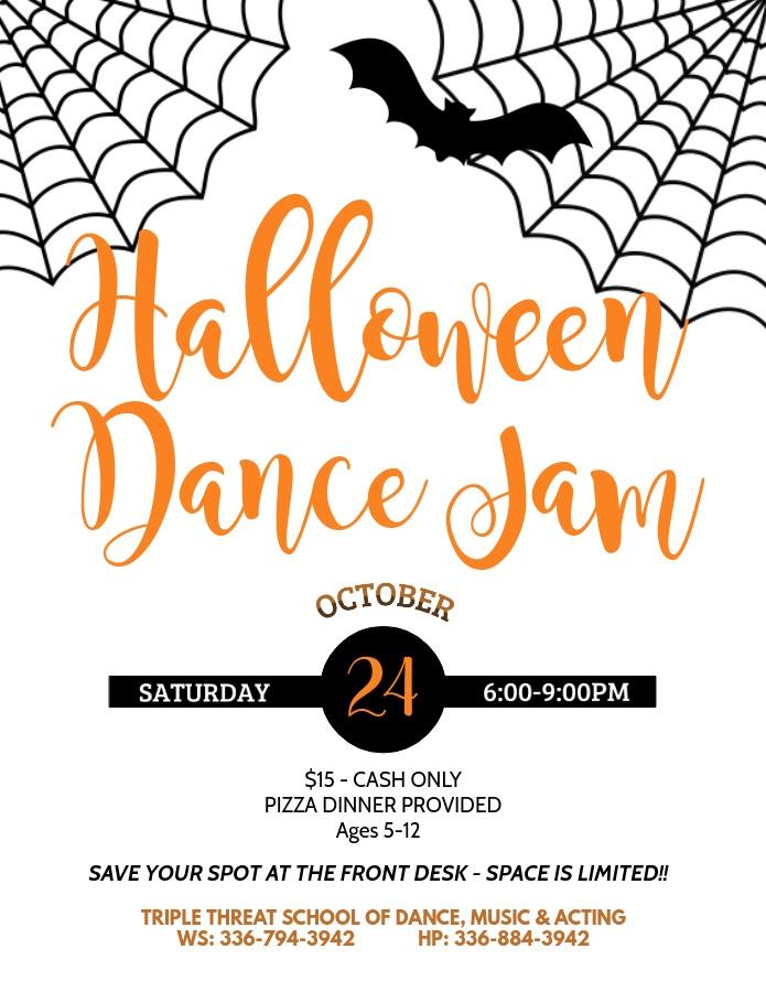 Halloween Dance Jam at 3 Threat Dance Studios in Winston-Salem & High Point