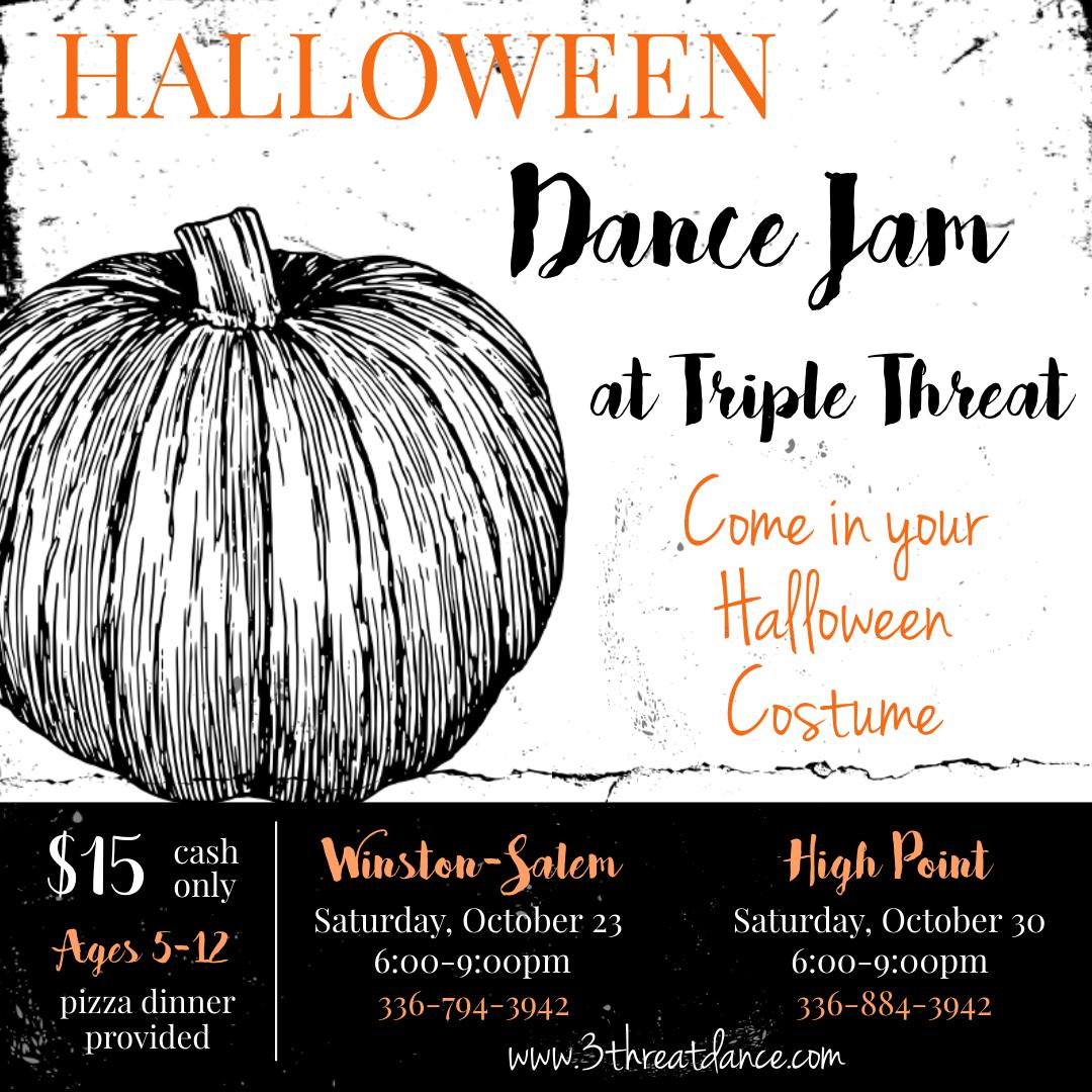 Halloween Dance Jam Winston-Salem & High Point Dance Dance Studio